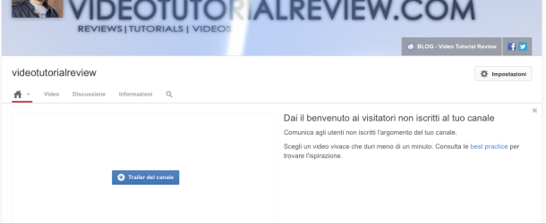 TUTORIAL YOUTUBE: NUOVA GRAFICA